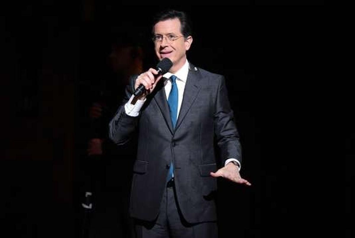 """US-Präsident Trump und seine Regierung sind Dauerthema in Stephen Colbert's Sendung """"The Late Show""""."""