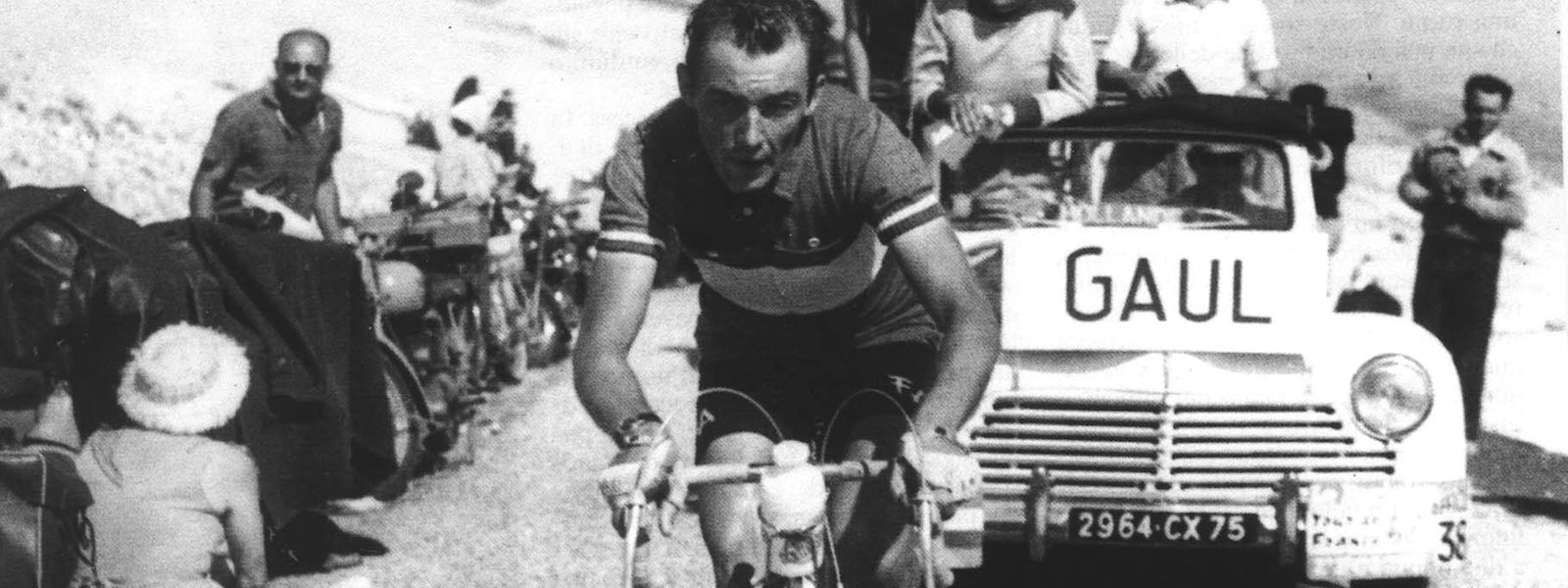 Charly Gaul während der Tour de France 1958.