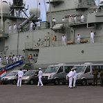 Fragata portuguesa transporta materiais militares oferecidos pelo Luxemburgo a Cabo Verde