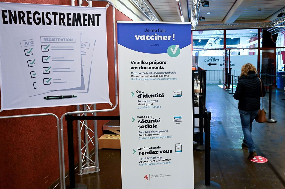Luxembourg's only vaccination centre in the Limpertsberg district of the capital city Photo: AFP