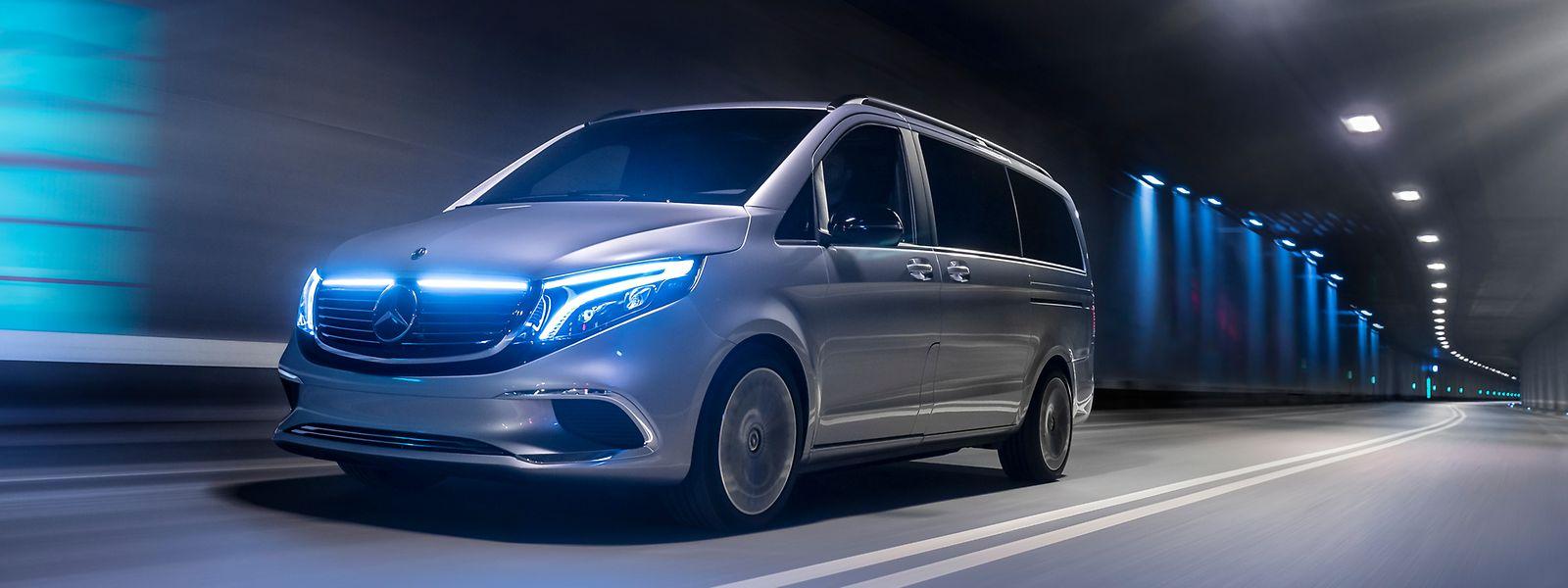 Für den elektrisch angetriebenen Concept EQV verspricht Mercedes-Benz eine Reichweite von bis zu 400 Kilometern.