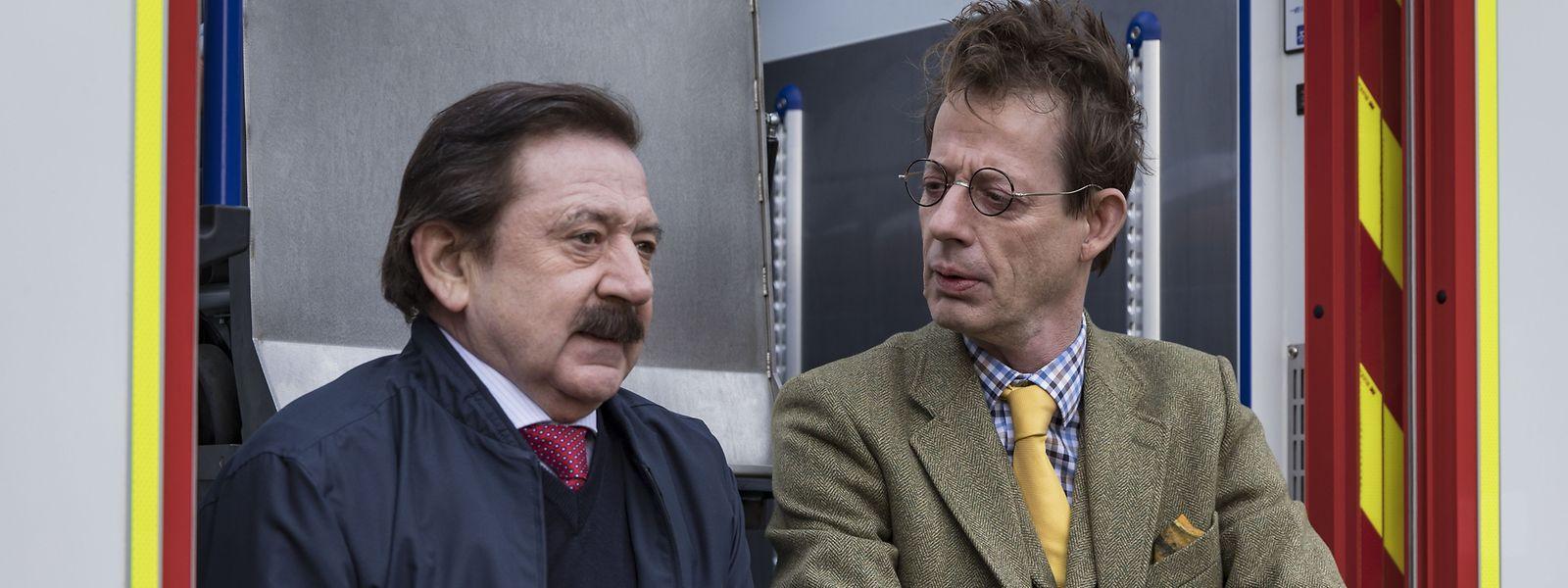 Charel Kuddel (André Jung, l.) und Inspekter Schrobiltgen (Luc Feit)