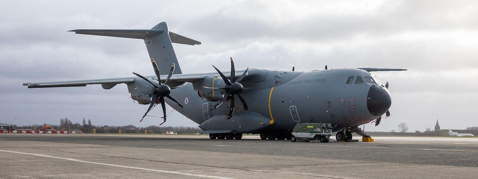 Der A400M ist Teil der luxemburgischen NATO-Verpflichtungen. Die Kosten betrugen 197 Millionen Euro.