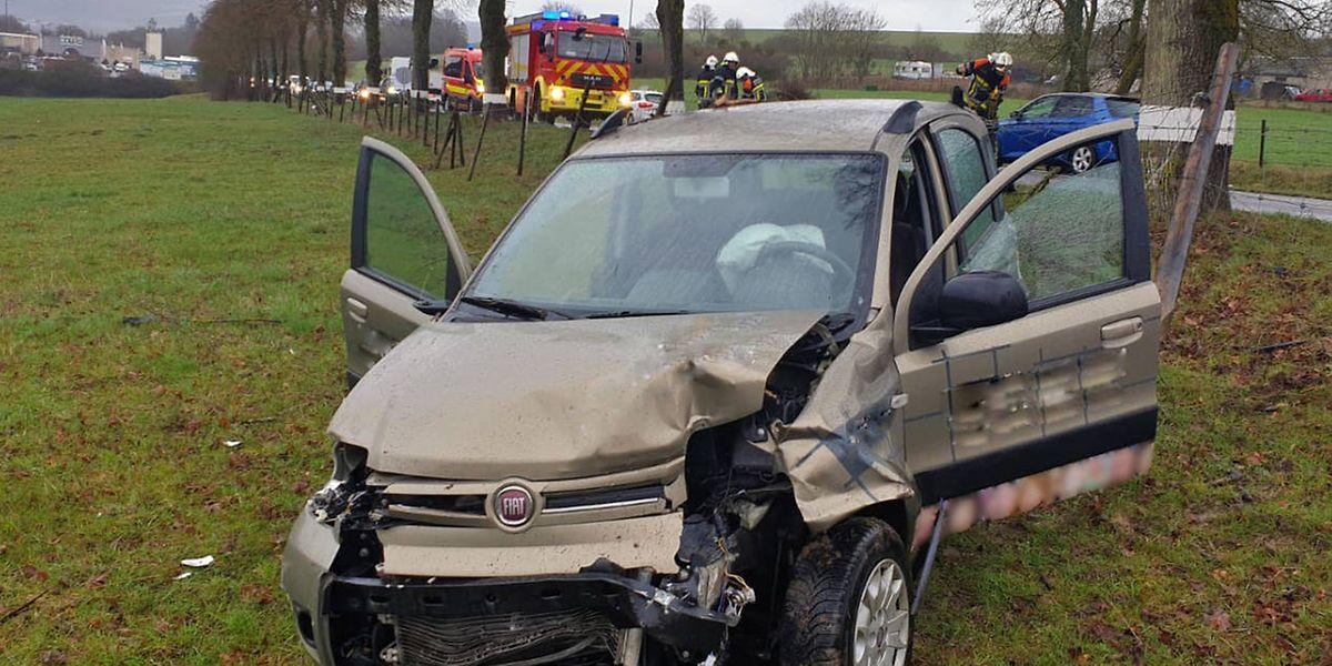 Der Unfall geschah in Höhe der Kreuzung nach Oberdonven.