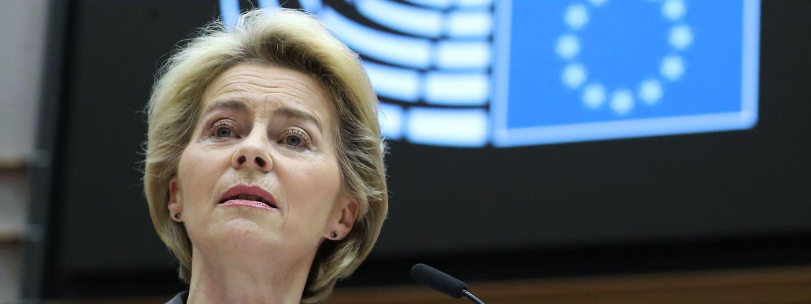 Presidente da Comissão Europeia, Ursula von der Leyen.