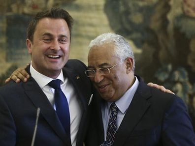 António Costa with Xavier Bettel in November last year