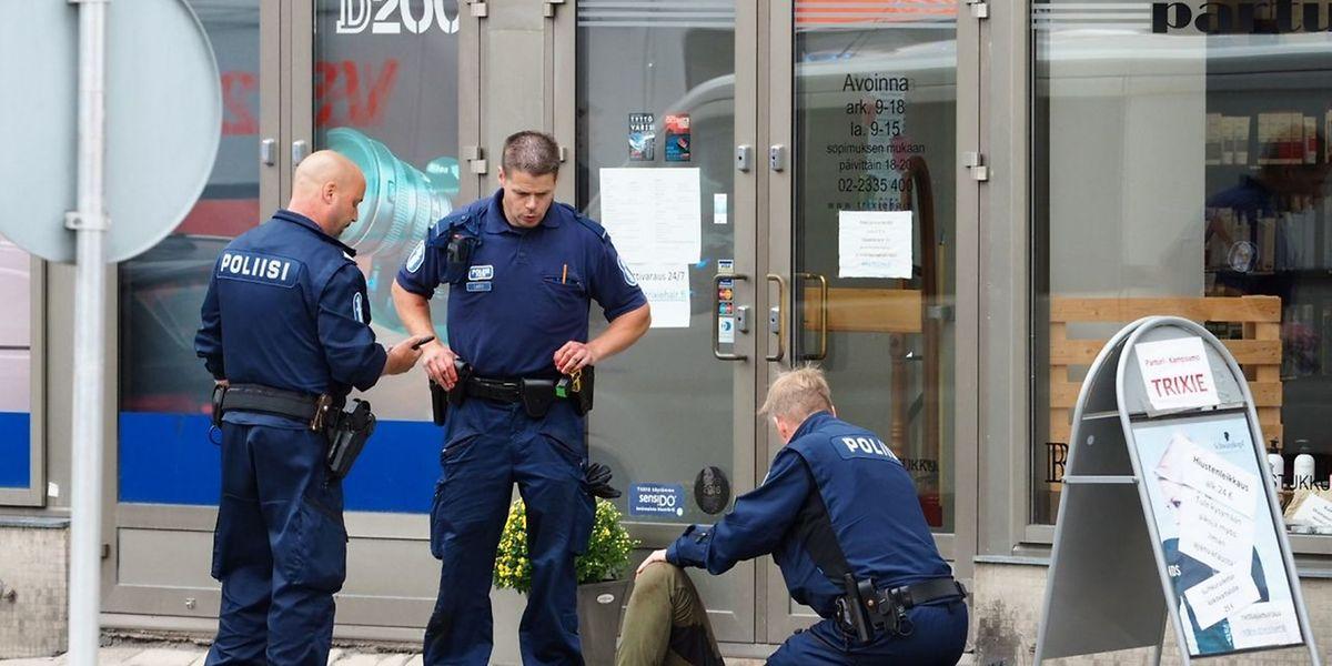 Die Bilder des Schreckens musste in Turku auch ein Luxemburger mit ansehen.