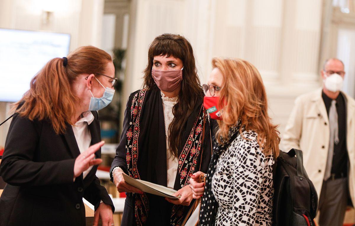 Nathalie Oberweis und Myriam Cecchetti  sitzen seit Mai für Déi Lénk im Parlament.
