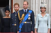Zoff unter Brüdern: Das gute Verhältnis von Prinz Harry (2.v.l.) und Prinz William (2.v.r.) ist dahin.