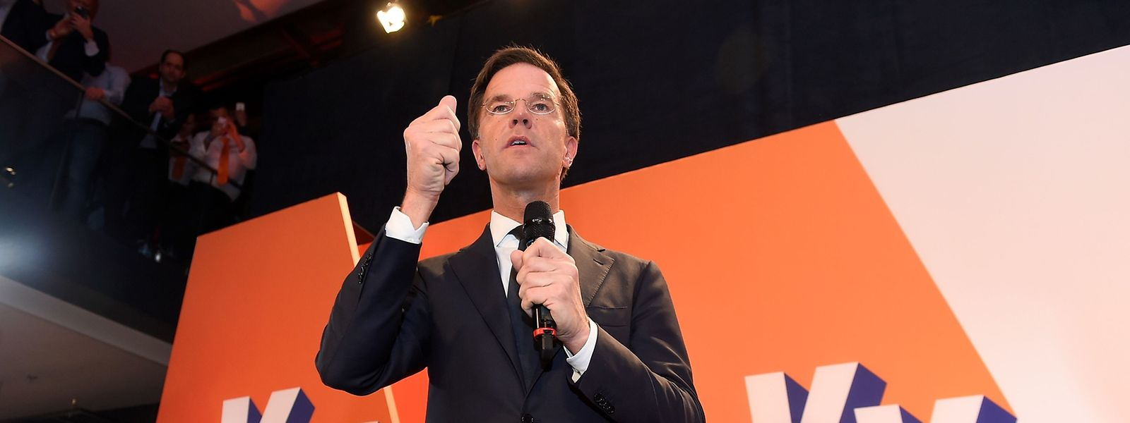 """Der amtierende Ministerpräsident Mark Rutte nannte die Wahl """"ein Fest für die Demokratie""""."""