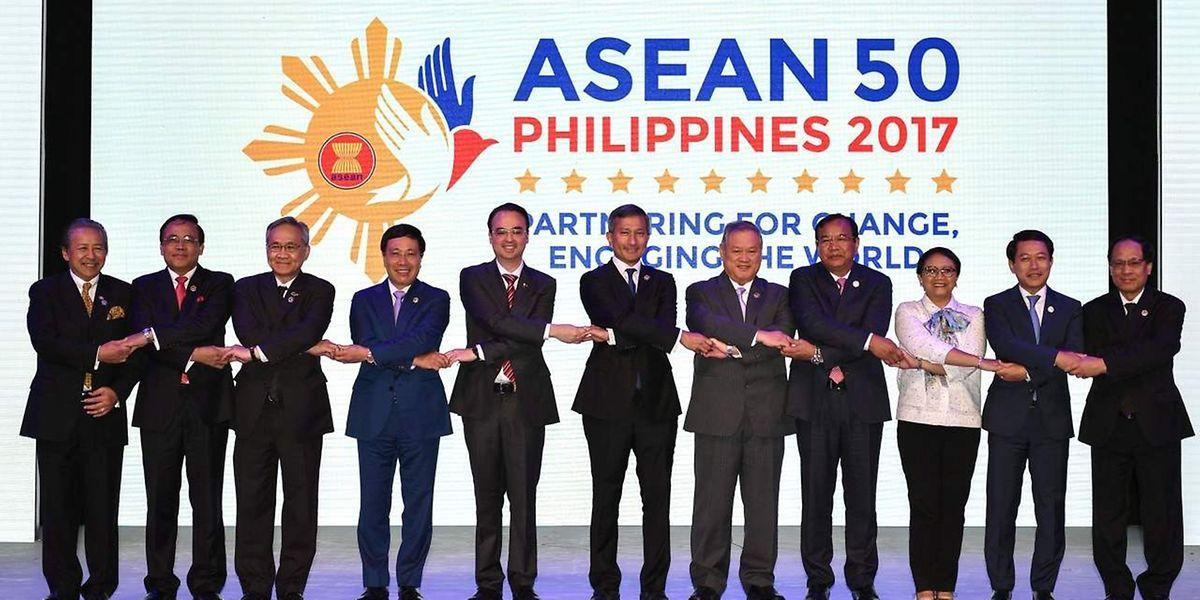 Die Außenminister der Gemeinschaft Südostasiatischer Staaten sind sich in ihrer Position gegenüber Nordkorea einig.