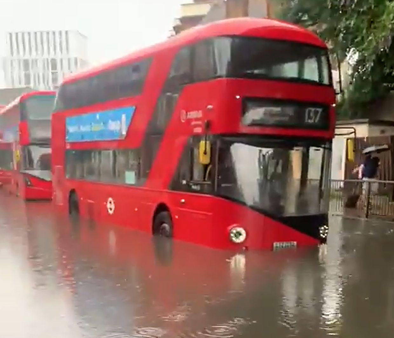 Inundações em Londres.