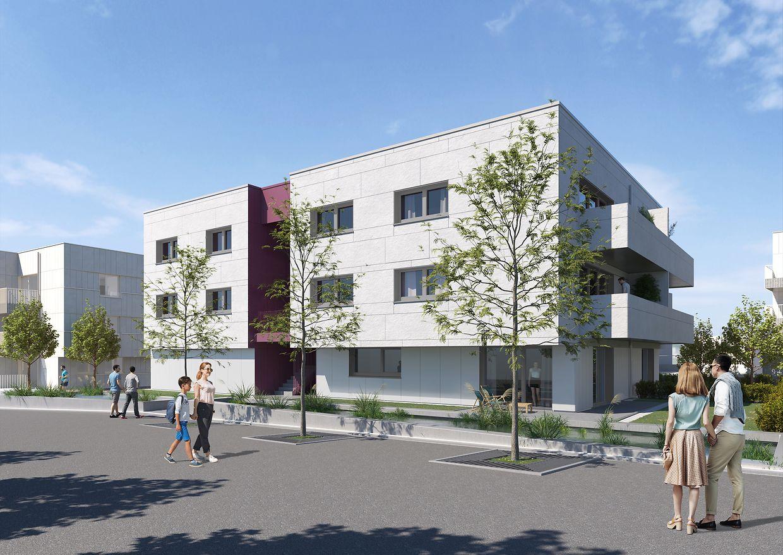 Beispiel eines Mehrfamilienhauses im Viertel Elmen in Olm.