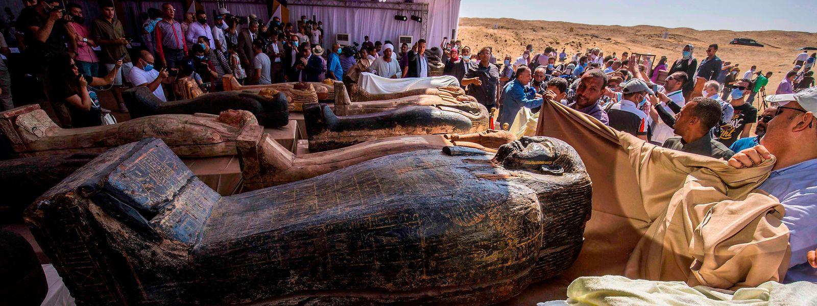 Archivfoto: Erst im vergangenen Jahr hatten Archäologen 59 Sarkophage gefunden.