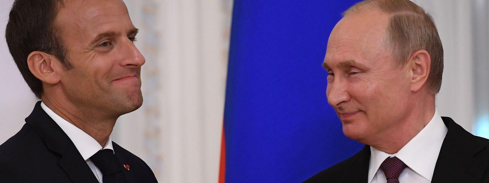 Macron und Putin sprachen sich dafür aus, das Atomabkommen mit dem Iran auch nach der einseitigen Aufkündigung durch die USA zu erhalten.