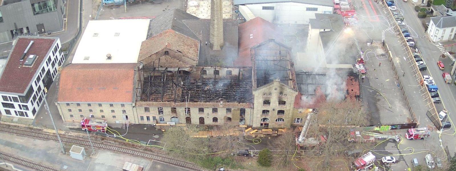 Die denkmalgeschützte alte Brauerei brannte vollständig aus.