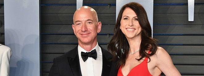 Jeff Bezos et son épouse MacKenzie, dimanche chez Vanity Fair