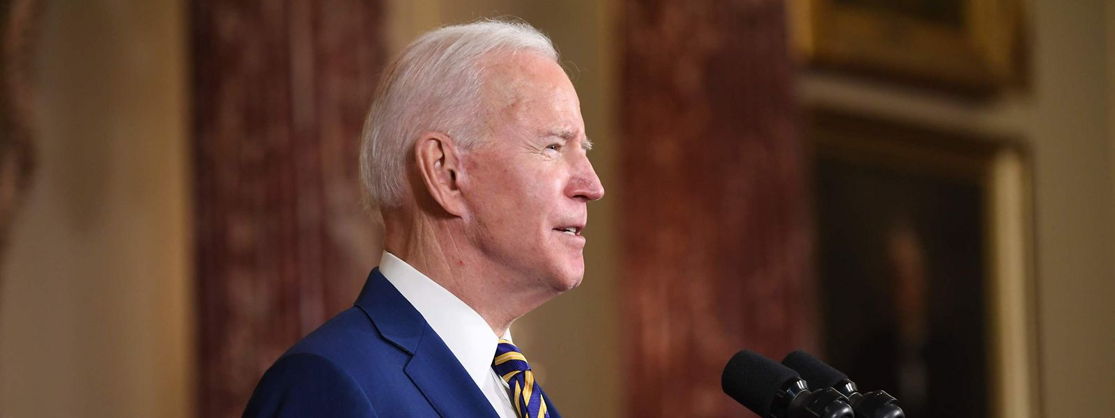 US-Präsident Joe Biden sprach am Donnerstag über seine außenpolitischen Ziele.