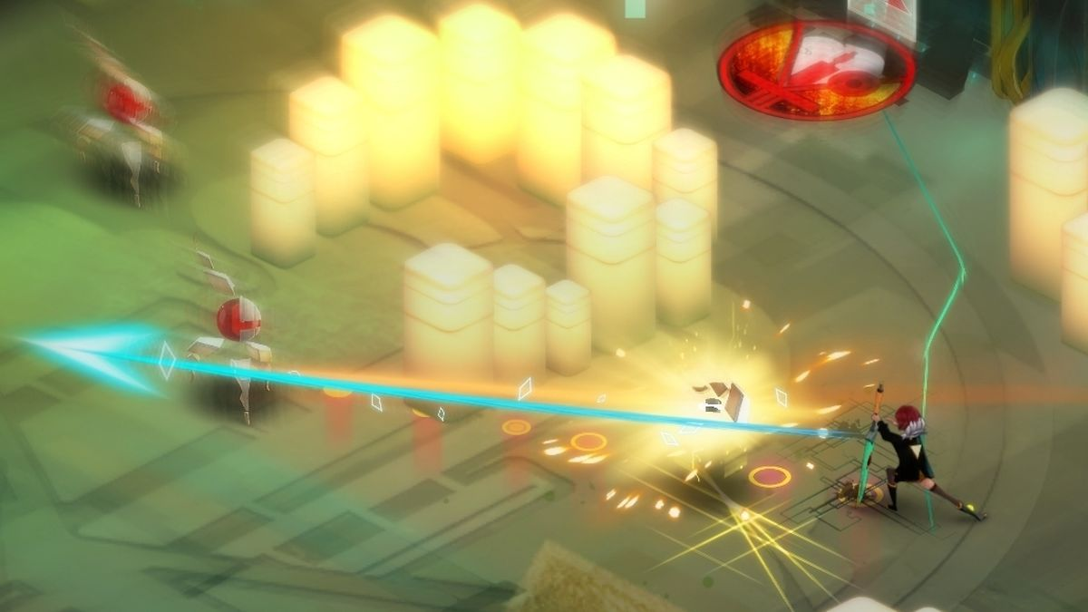 Transistor erzählt die Geschichte der Heldin Red - aus der Perspektive ihres Schwertes Transistor.
