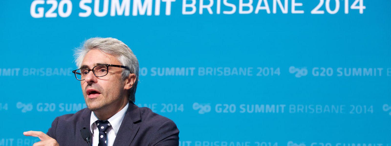 Pascal Saint-Amans, le directeur fiscalité de l'OCDE, au sommet du G20 le weekend dernier.