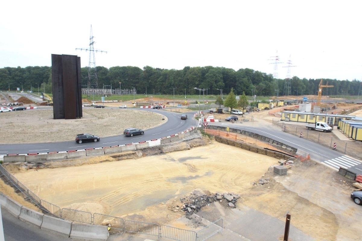 """Pünktlich zur Rentrée 2015 soll aus dem """"Rond-Point Serra"""" ein """"Turbo-Kreisverkehr"""" werden."""