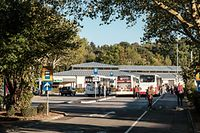 Echternacher Busbahnhof ist in Richtung Zentrum gerückt. Der neue Echternacher Busbahnhof auf der Roam / Foto: Viktor WITTAL