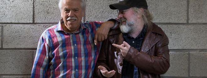 Der Sänger Fausti mit Regisseur Andy Bausch.