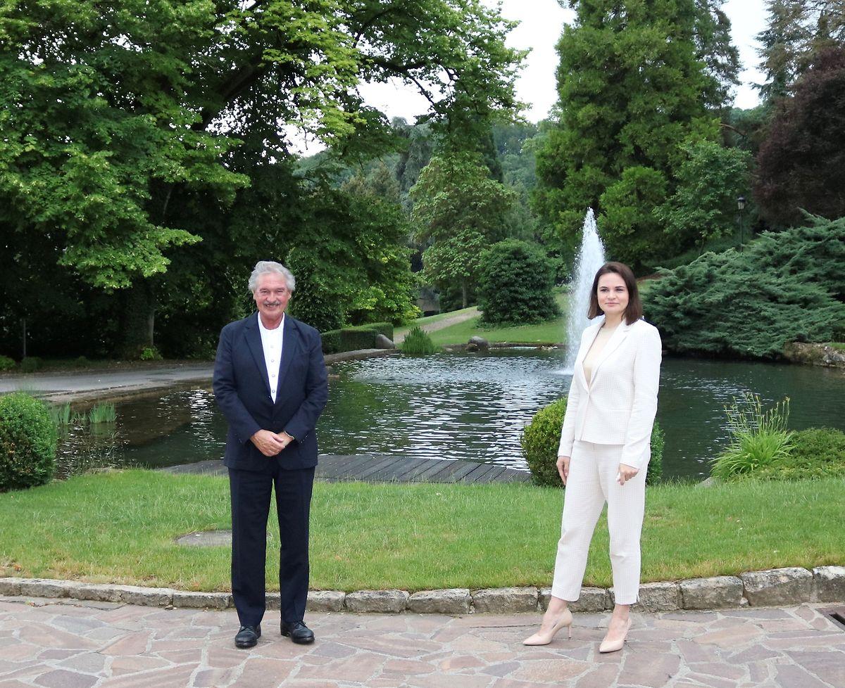 Außenminister Jean Asselborn (LSAP) empfing Swetlana Tichanowskaja im Schloss Senningen.