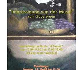 """Exposition """"Impressioune vun der Musel"""" vum Gaby Braun"""