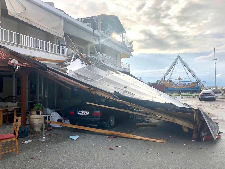 Schwere Schäden in Nordgriechenland.