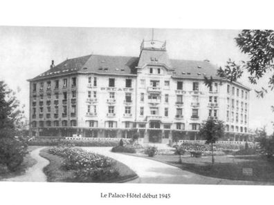 The former Palace Hotel located in Mondorf-les-Bains, which once served as a POW camp