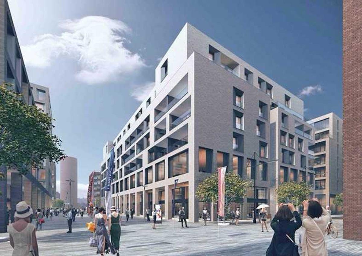 Wohnraum für 400 und Bürofläche für 700 Personen werden in den drei Bauten entstehen.