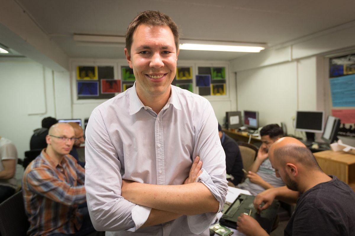 Patrick de la Hamette: «Les réfugiés me disent que ce qui leur manque le plus, c'est l'accès à internet dans les foyers».