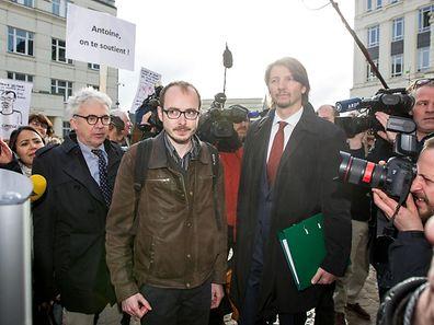 26.4. LuxLeaks Prozess / Cite Judiciaire / Antoine Deltour Foto:Guy Jallay
