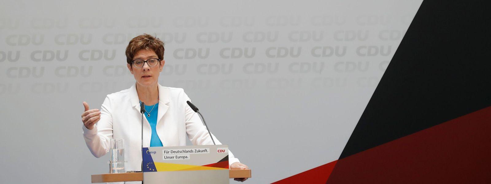 Annegret Kramp-Karrenbauer sorgte mit ihren Äußerungen für Missmut - sogar in ihrer eigenen Partei.