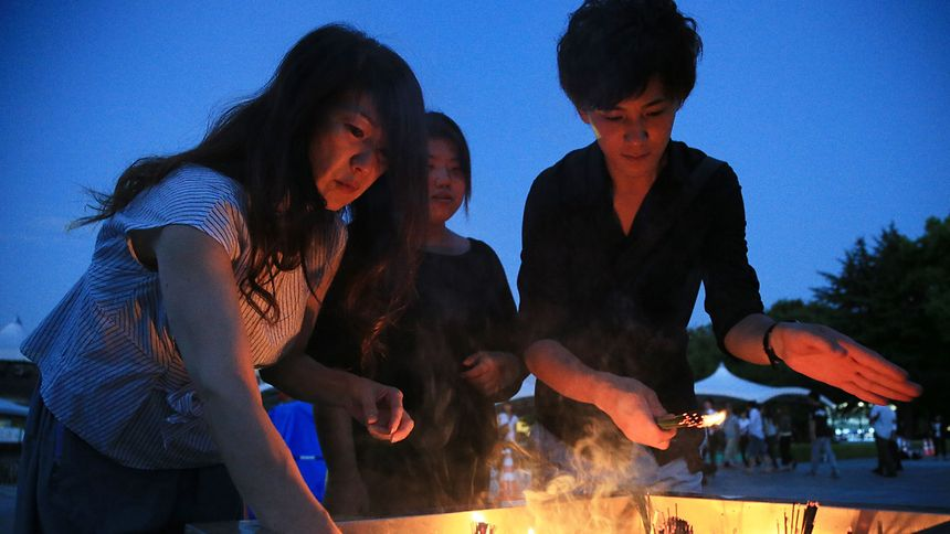 Japan gedenkt Atombombenabwurf auf Hiroshima vor 72 Jahren