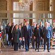 (de g. à dr.) S.A.R. la Grande-Duchesse ; S.A.R. le Grand-Duc ; Anne Hidalgo, maire de Paris ; Jean-Michel Blanquer, ministre de l'Éducation nationale