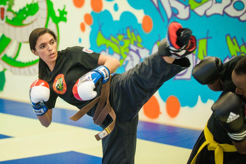 Cláudia Machado numa fase de treino.