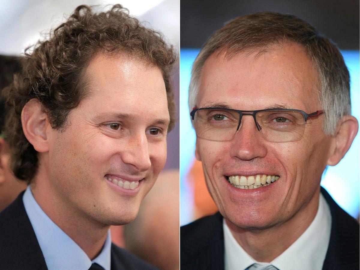 John Elkann (à gauche) présidera le nouveau conseil d'administration alors que Carlos Tavares deviendra directeur général du groupe fusionné.