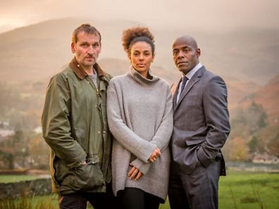Robert (Christopher Eccleston), Katy (Marsha Thomason) und Mark (Paterson Joseph). ZDF neo, februar 2016