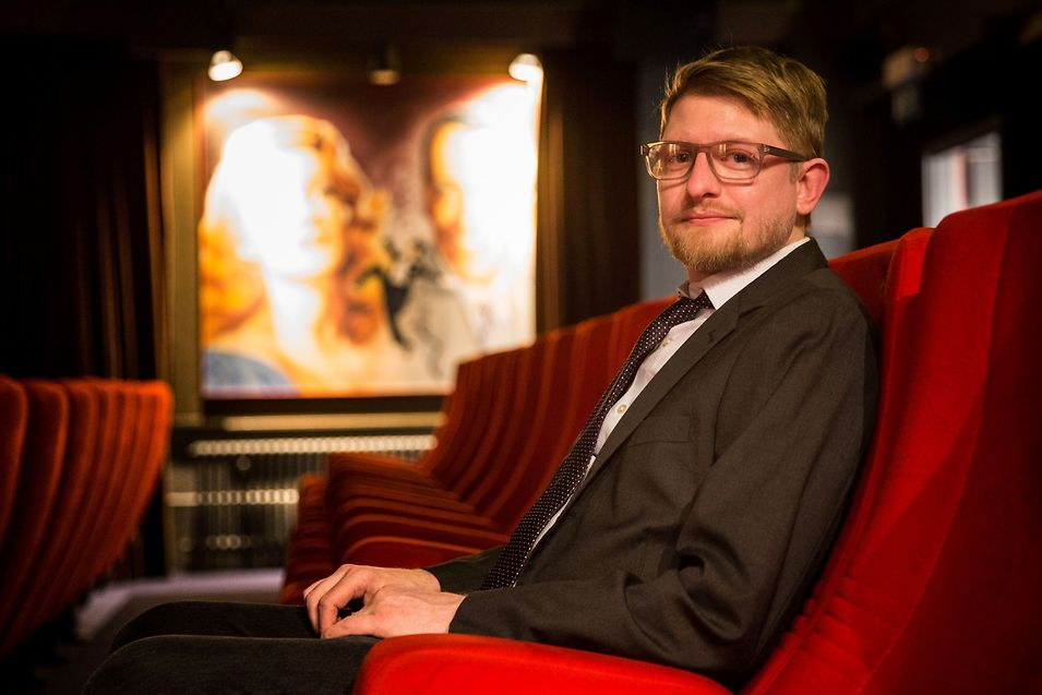 """Filmmaker Matthew Nash at the Luxembourg City Cinémathèque to present his film """"16 Photographs at Ohrdruf"""""""