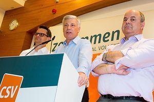 Claude Wiseler, ao centro, seria provavelmente o novo primeiro-ministro do Luxemburgo se as eleições fossem em dezembro de 2016