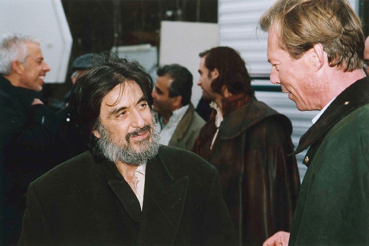 """Sogar Großherzog Henri ließ es sich nicht nehmen, Hollywoodstar Al Pacino 2003 am Set von """"The Merchant of Venice"""" in Esch/Alzette einen kleinen Besuch abzustatten."""