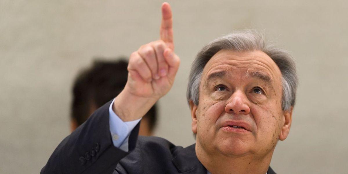 António Guterres, durante a sessão de abertura da 34.ª sessão do Conselho dos Direitos Humanos, em Genebra, Suíça