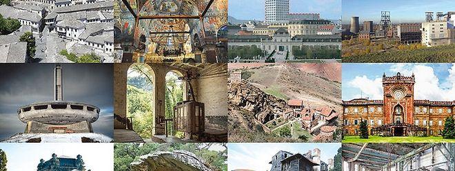 """Die zwölf aufgelisteten Orte Europas. Sieben davon werden ins """"7 Most Endangered""""-Programm aufgenommen und künftig restauriert werden."""