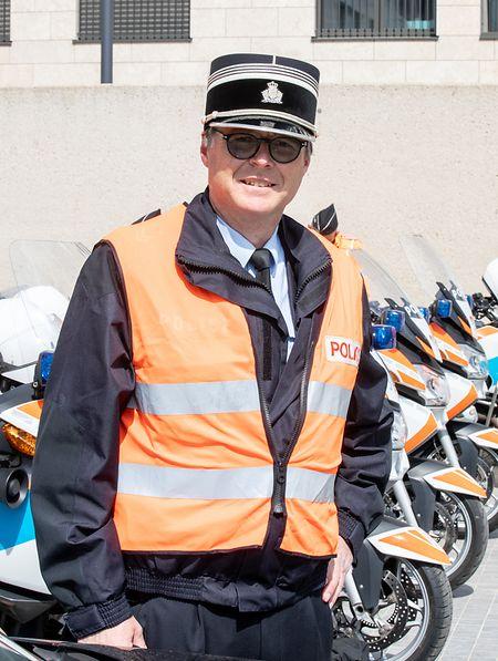 André Schaack ist Chefkommissar bei der Verkehrspolizei.