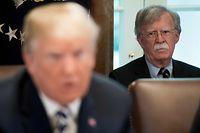 US-Präsident Donald Trump (l.) und sein Widersacher John Bolton.