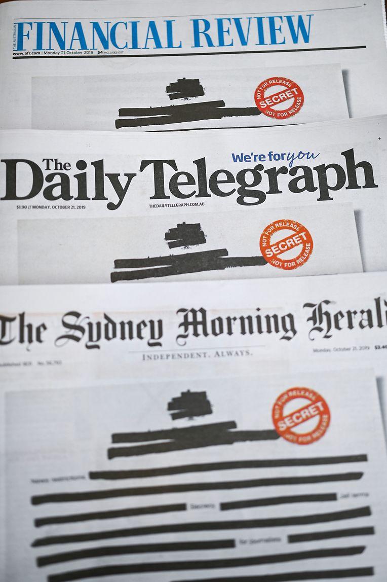 In einer gemeinsamen Aktion protestieren die Zeitungen gegen eine Behördenpolitik der Geheimhaltung.