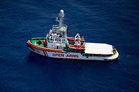 """Unterwegs nach Italien: Die """"Open Arms"""""""