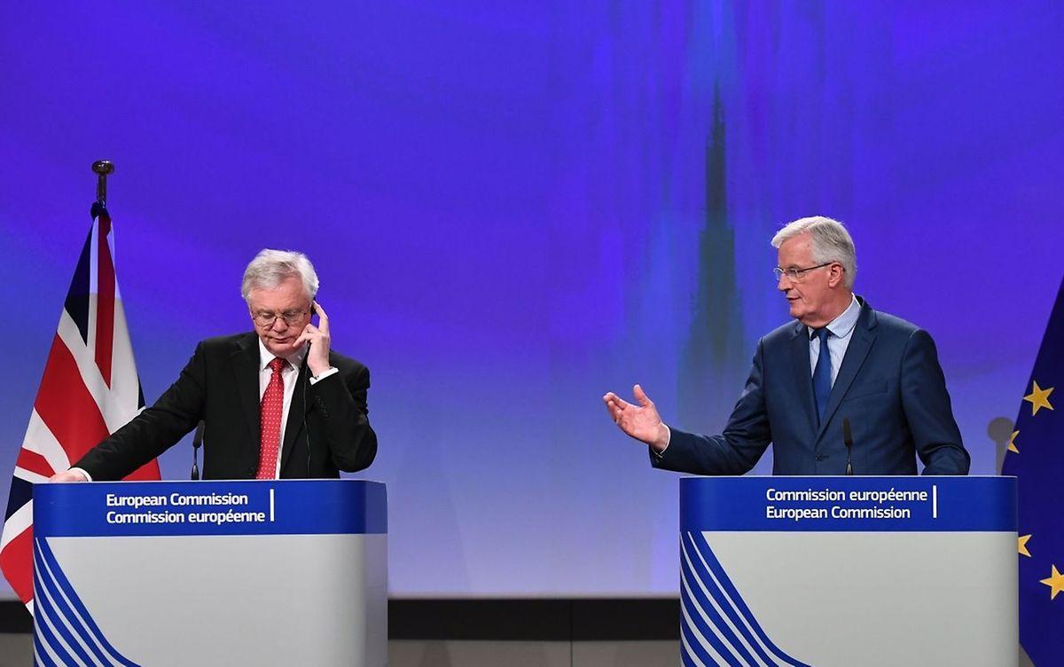 David Davis (L) und Michel Barnier haben noch viel Arbeit vor sich.